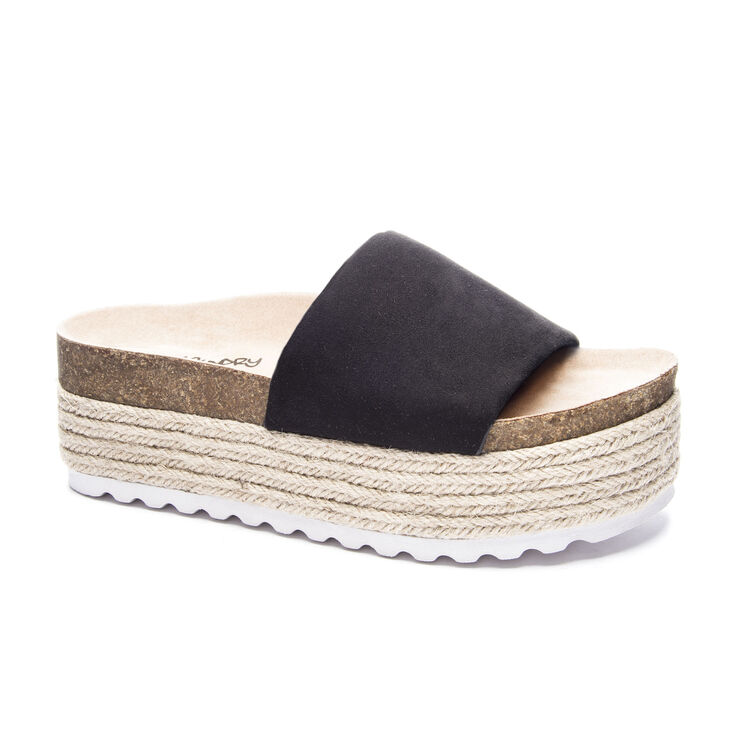 Chinese Laundry Pippa Slide Heels in Black