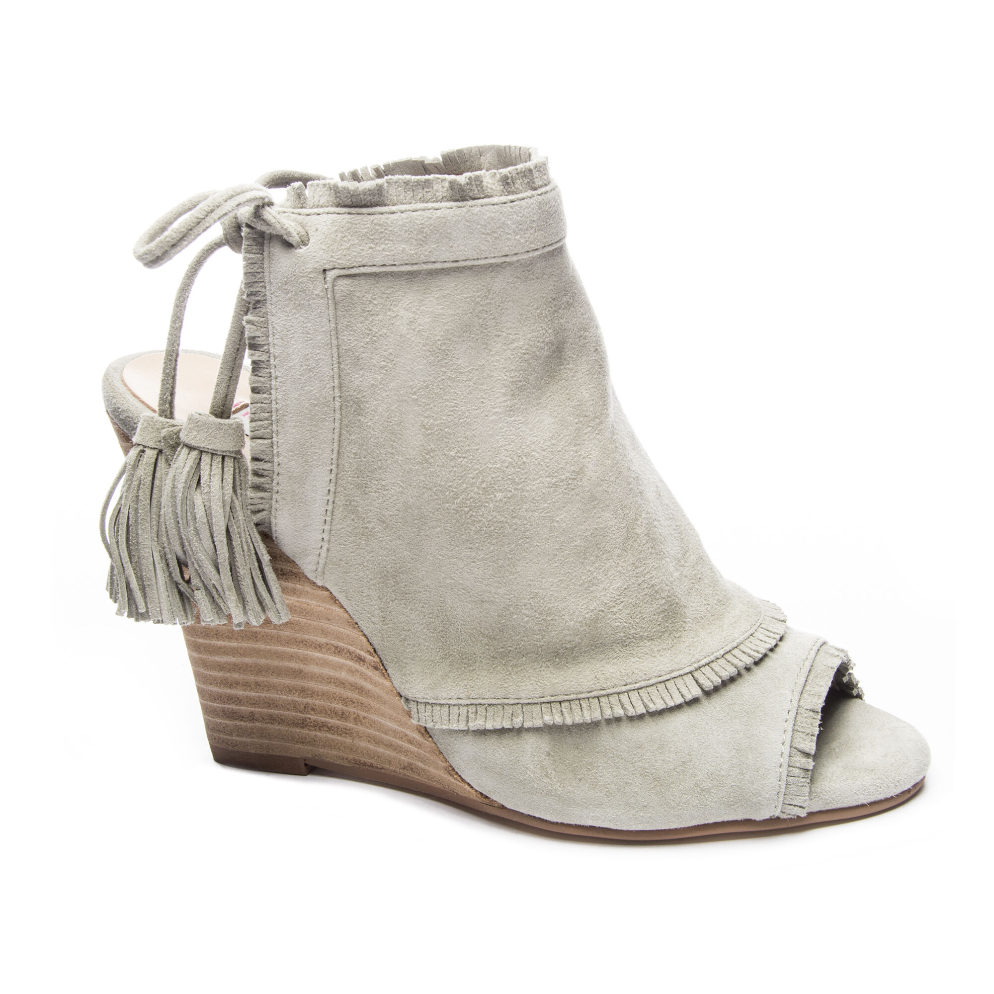 Leilani Kid Suede Wedge Booties Chinese Laundry