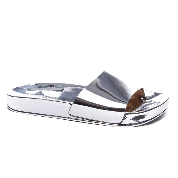 Chinese Laundry Moonchild Slide Heels in Silver