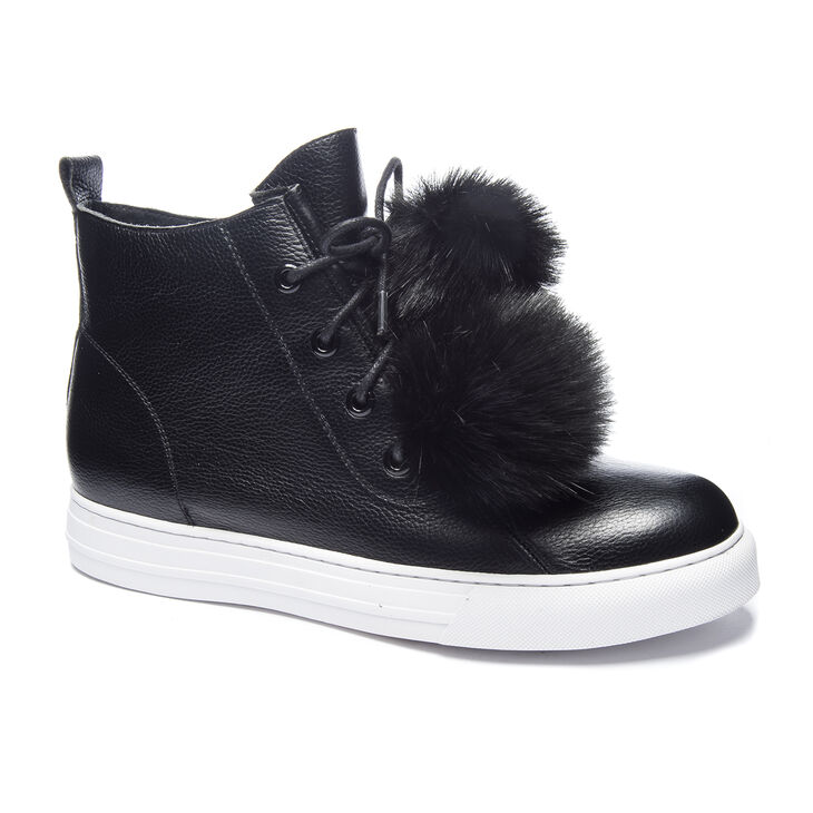 Chinese Laundry Fur Ever Sneakers in Black
