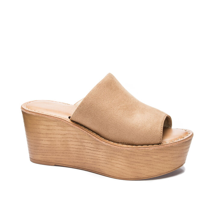 Chinese Laundry Waverly Slide Heels in Natural