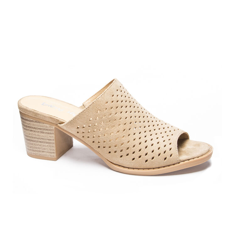 Chinese Laundry Take All Slide Heels in Camel