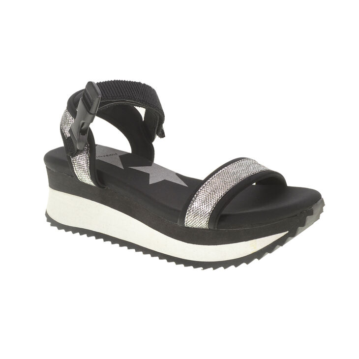 Chinese Laundry Gung Ho Sandals in Blk/slv