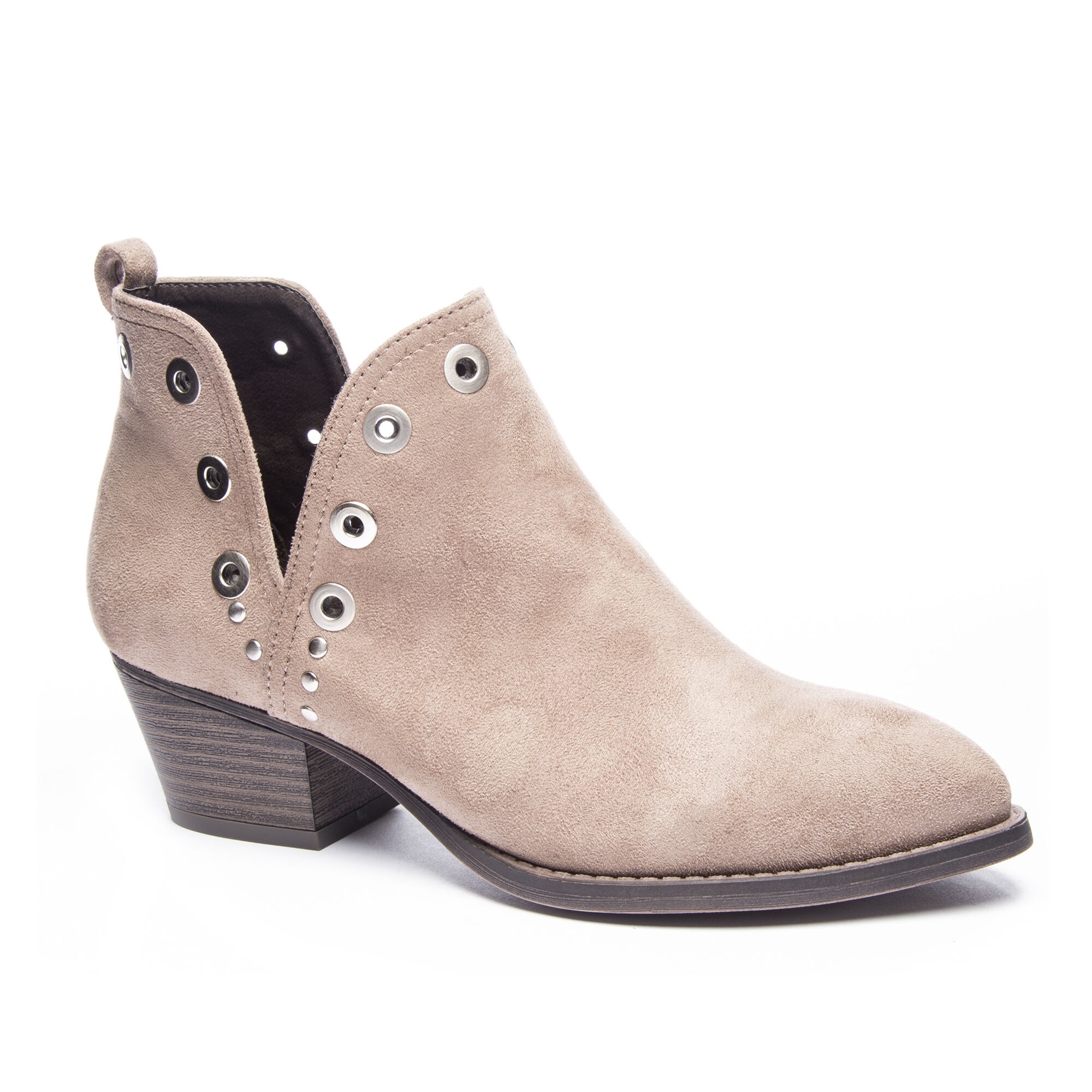f36ada26392 Catt Suede Cut Out Ankle Booties