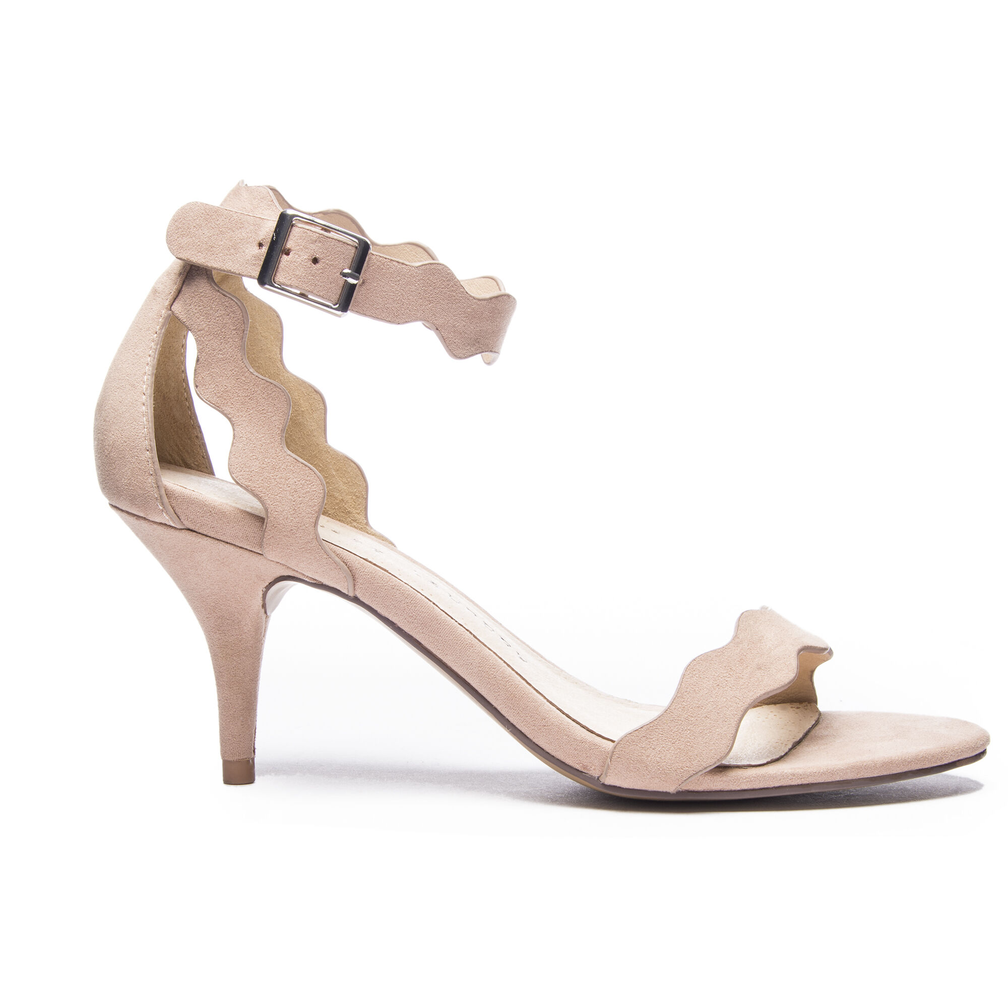 Rubie Faux Suede Ankle Strap Heels Chinese Laundry