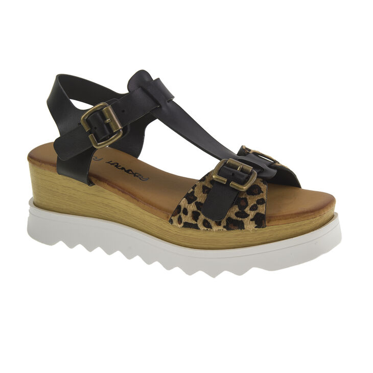 Chinese Laundry Ballroom Sandals in Black/leopard