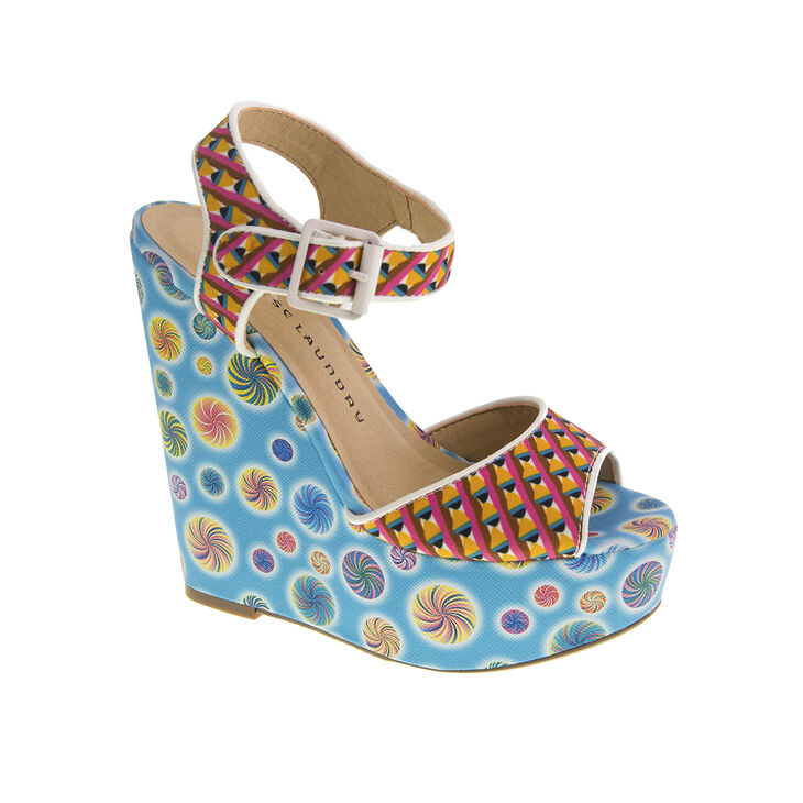 Chinese Laundry Jollypop Wedges in Blue Multi
