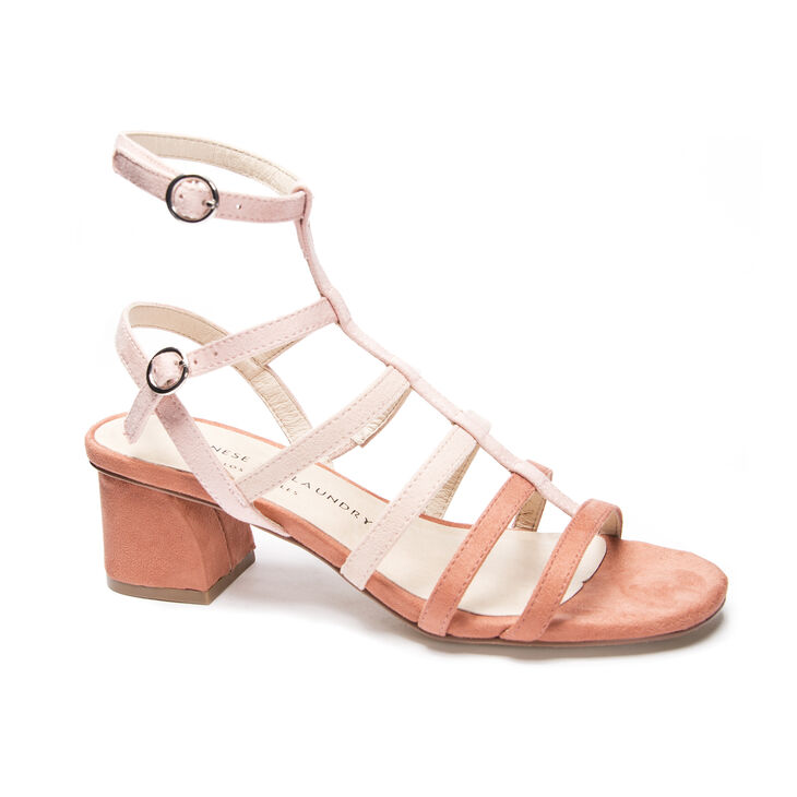 Chinese Laundry Monroe Gladiator Flats in Peach