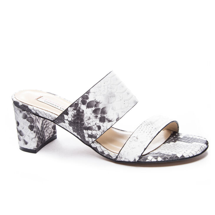 Kristin Cavallari Chinese Laundry Lakeview Slide Heels in Grey/white