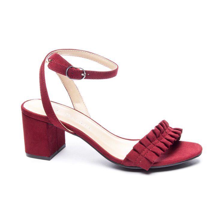 Chinese Laundry Jamz Dress Sandals in Cherry Red