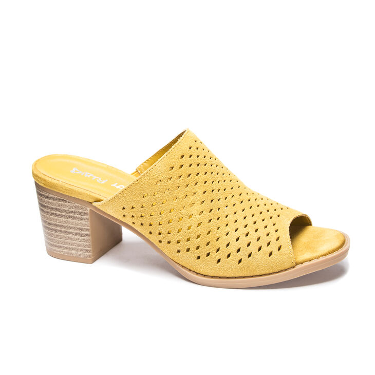 Chinese Laundry Take All Slide Heels in Mustard