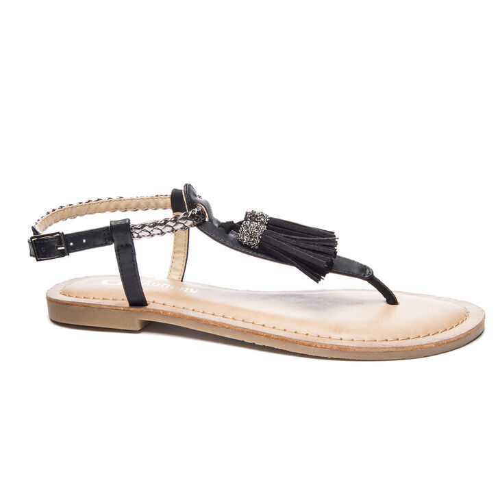 Chinese Laundry Natti Thong Sandals in Black/pewter