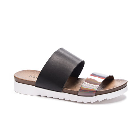 8b68f3f61620a Cant Stop Metalli Slide Sandal BLACKPEWTER