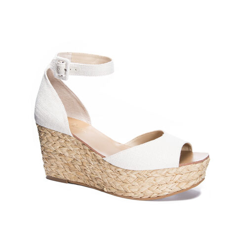 e3b1c38f888f Mindie Canvas Platform Wedge Sandal CREAM