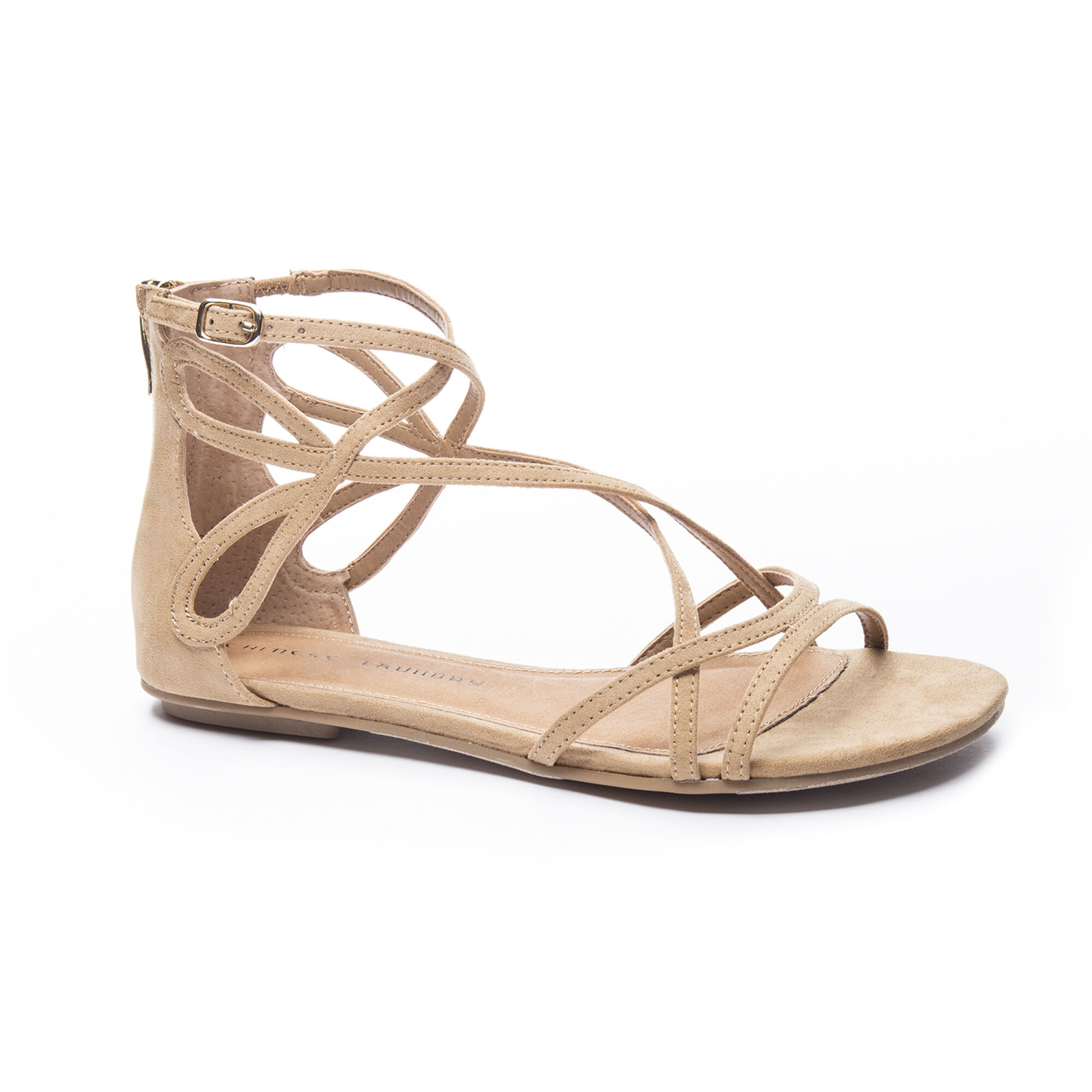 286079044836 Chinese Laundry Penny Suede Strappy Flat Sandal