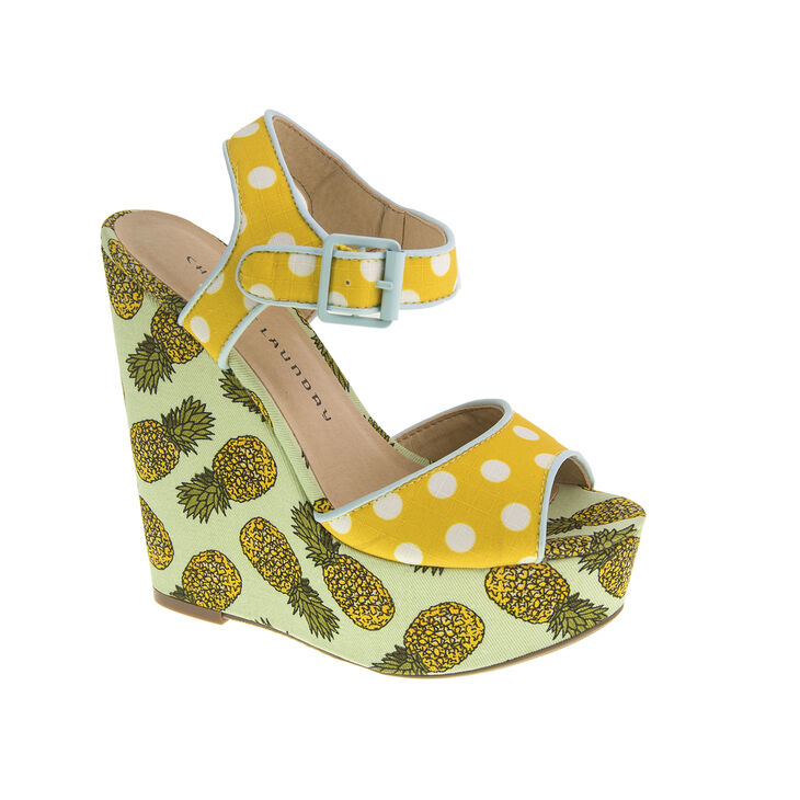 Chinese Laundry Jollypop Wedges in Yellow/white