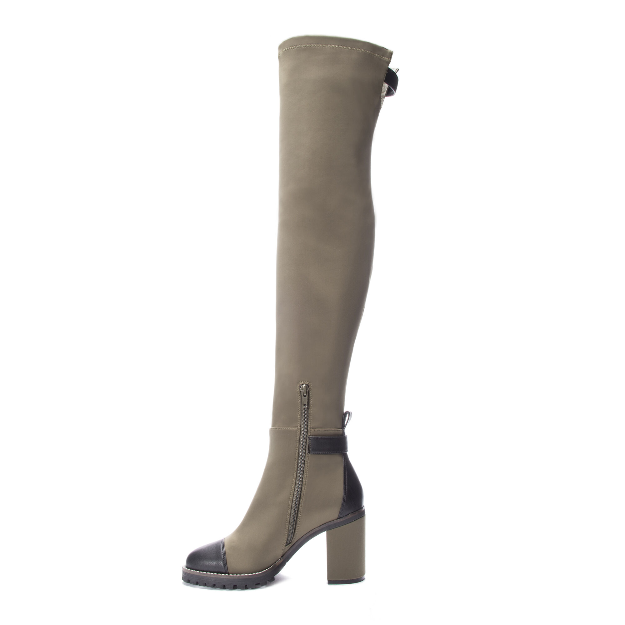 6f199855f86 Jerry Over the Knee Lug Sole Boot Heels