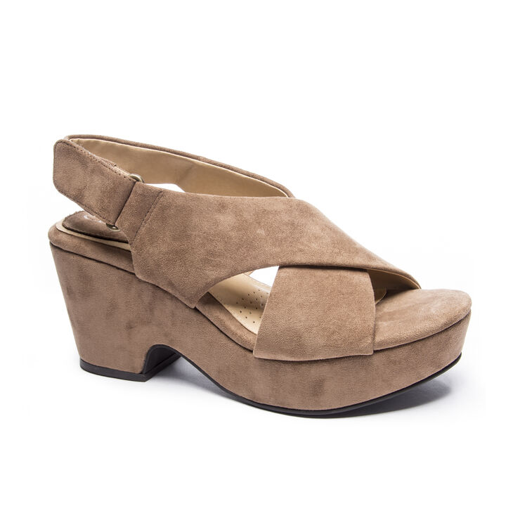 Chinese Laundry Capital Wedges in Taupe