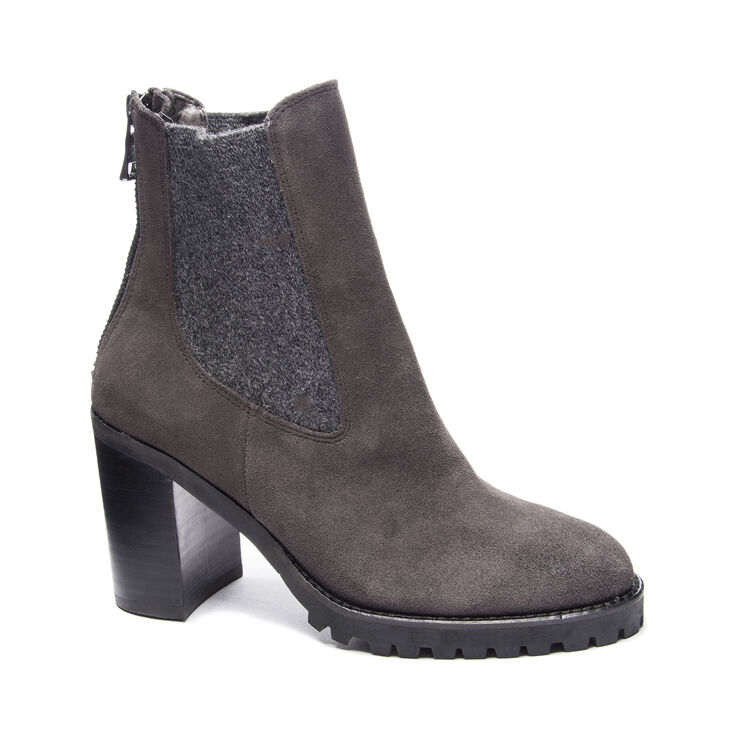 Chinese Laundry Jersey Boots in Charcoal