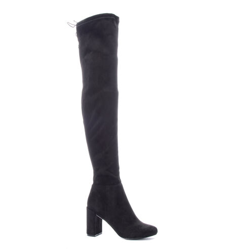 bb050614314 King Suedette Over The Knee Boot BLACK