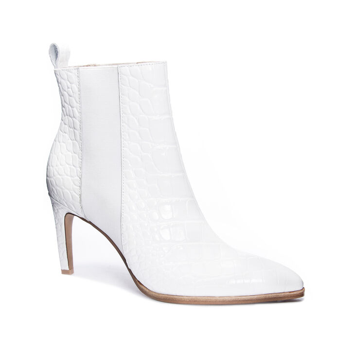 42 Gold Kensington Boots in White