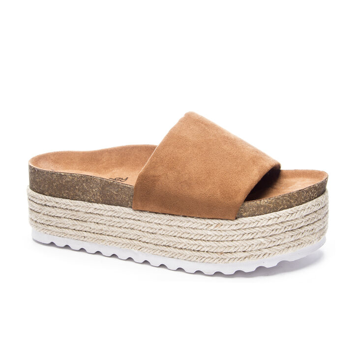 Chinese Laundry Pippa Slide Heels in Whiskey