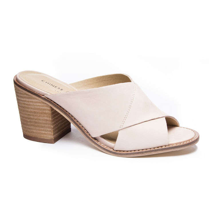 Chinese Laundry Crissa Slide Heels in Rose