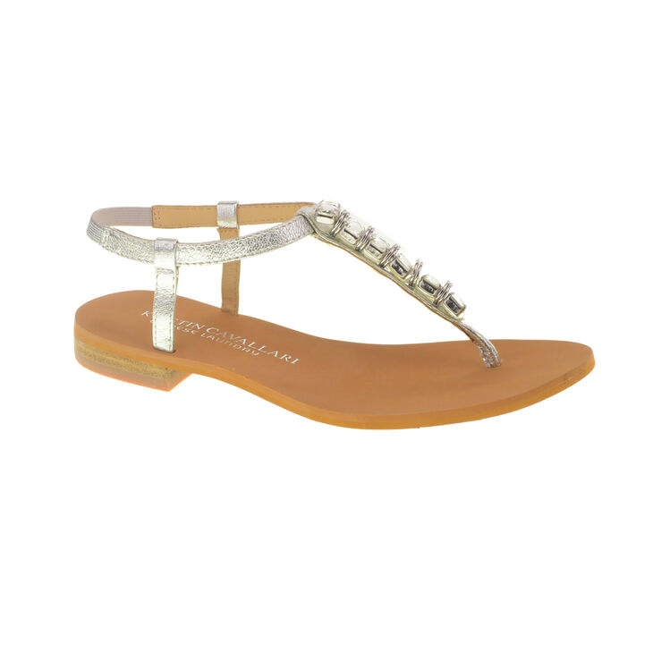 Kristin Cavallari Chinese Laundry Grace Thong Sandals in Silver