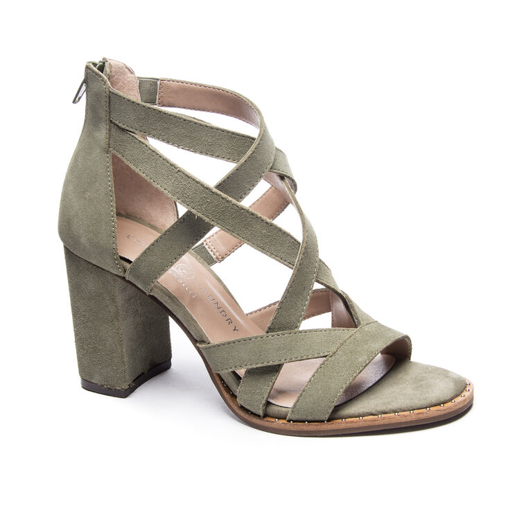 Chinese Laundry Shawnee Block Heels in Olive