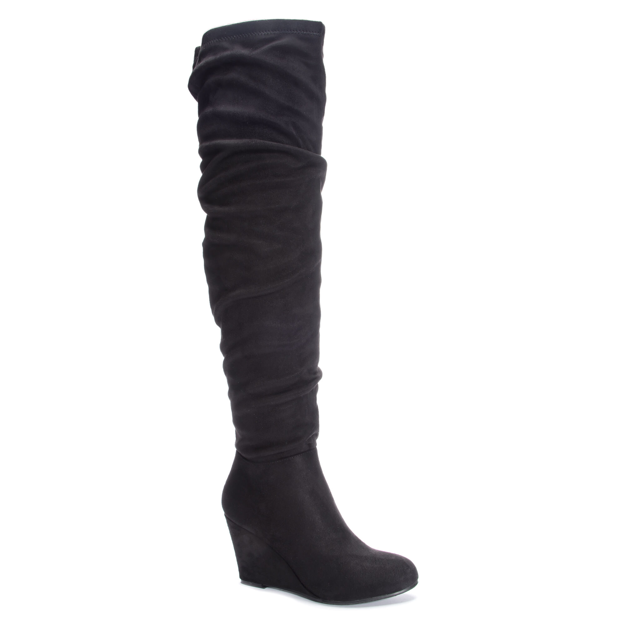 Uma Suedette Over the Knee Slouchy Wedge Boots  18911b9ad384