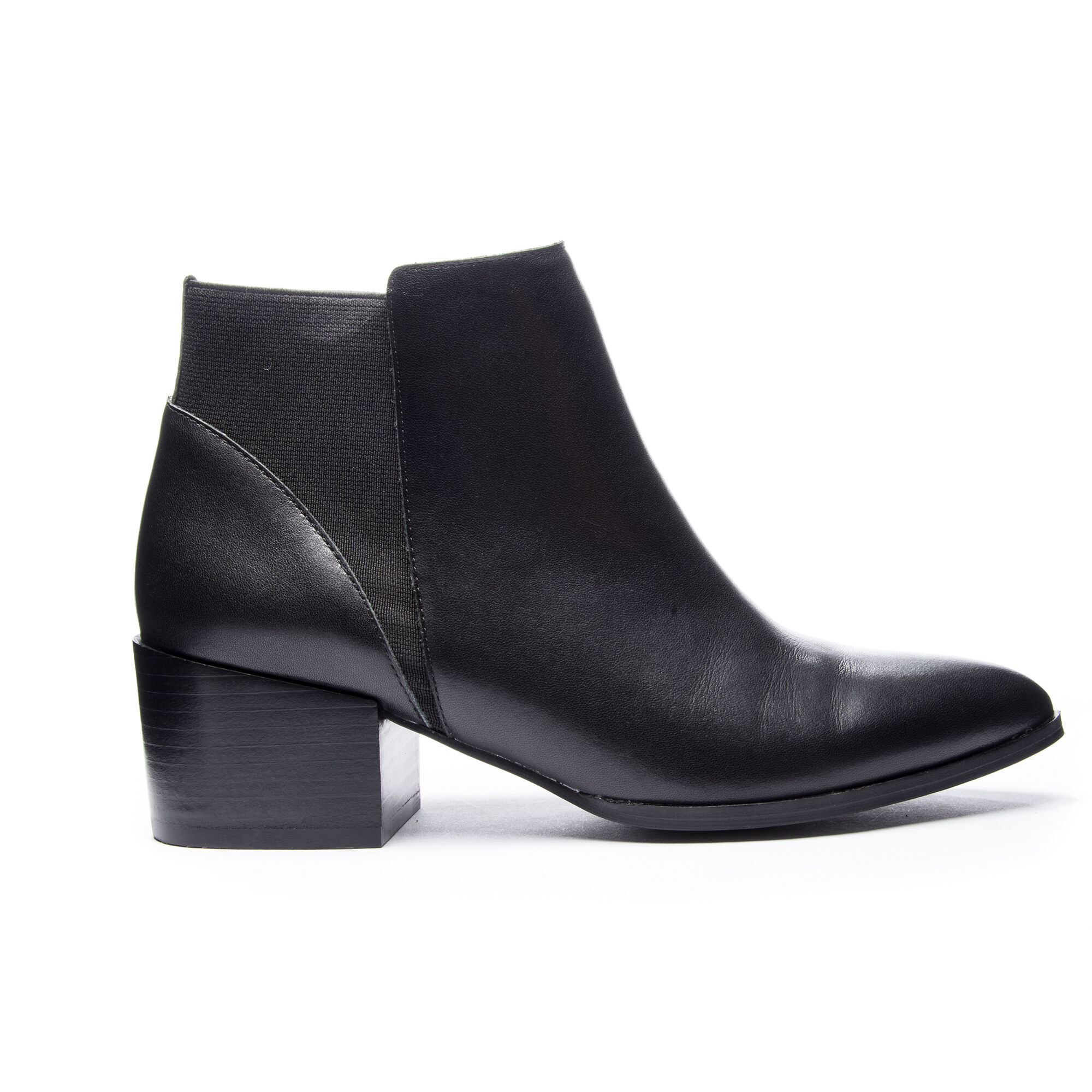 Finn Pointed Toe Leather Ankle Bootie