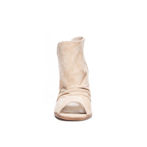 4a43ed90e2b Loyalty Kid Suede Peep Toe Bootie SAND