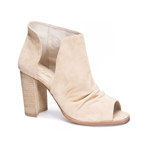 Loyalty Kid Suede Peep Toe Bootie SAND eb4a9b002