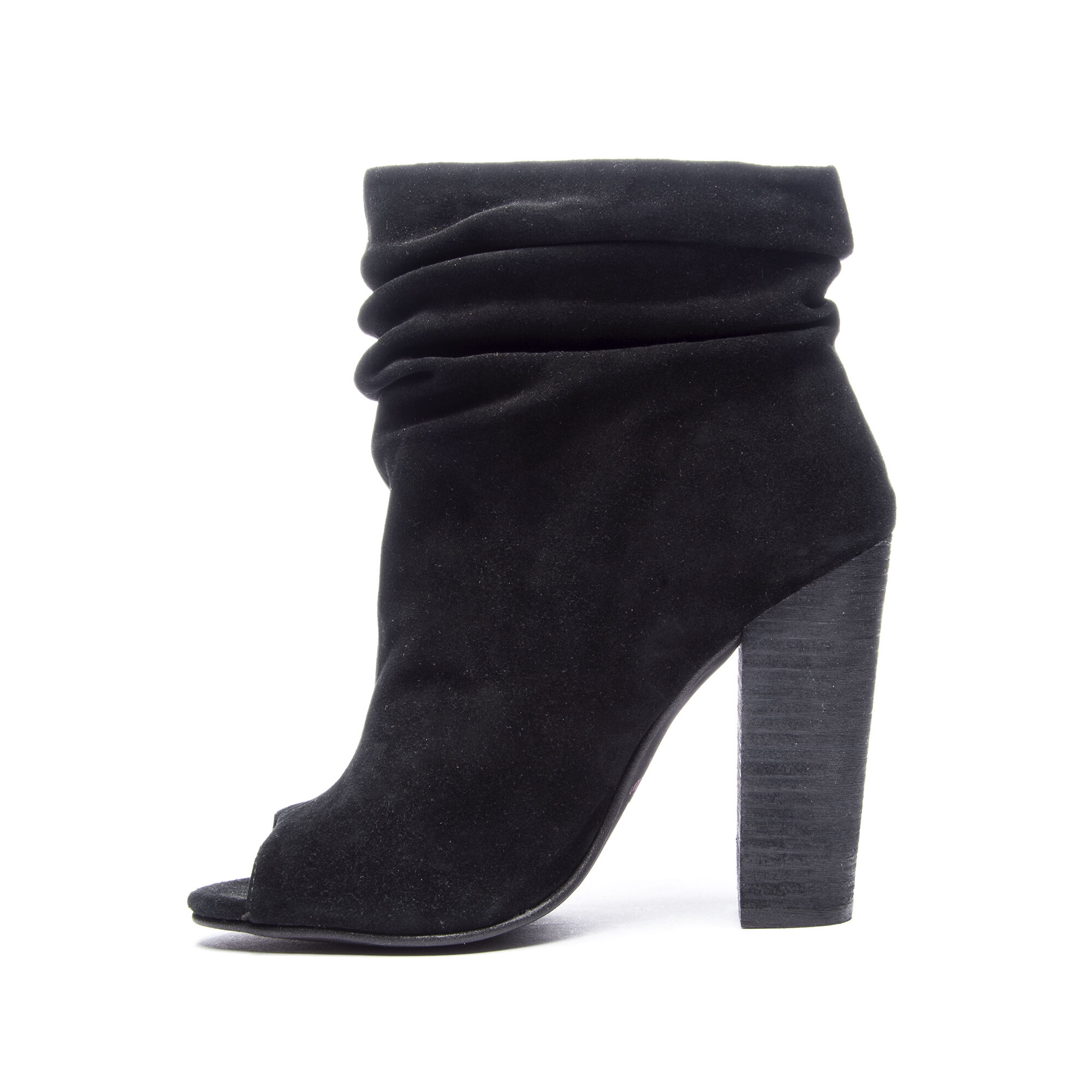 3942cd3a358 Laurel -Slouch Peep Toe Suede Ankle Bootie