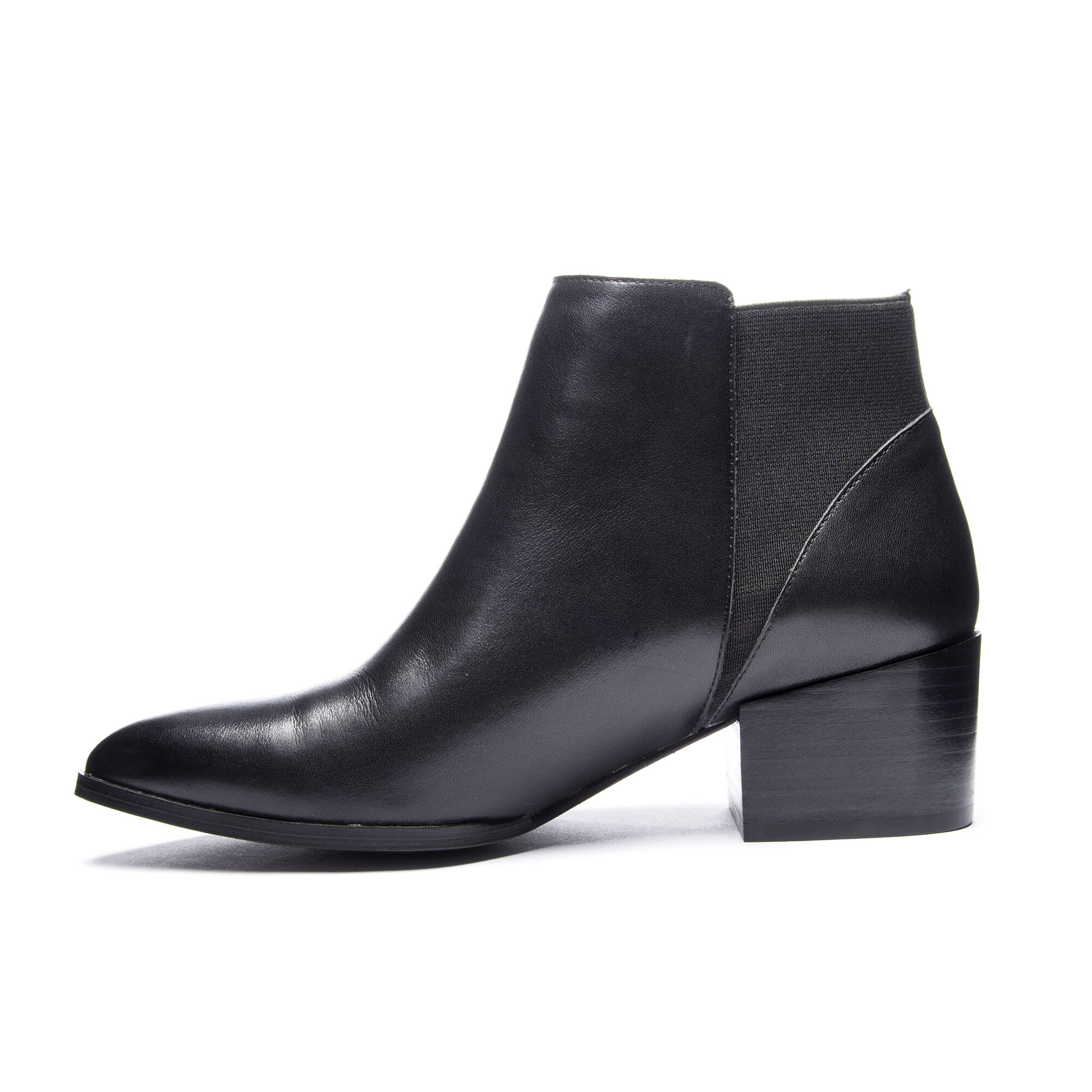 Finn Pointed Toe Leather Ankle Bootie Chinese Laundry